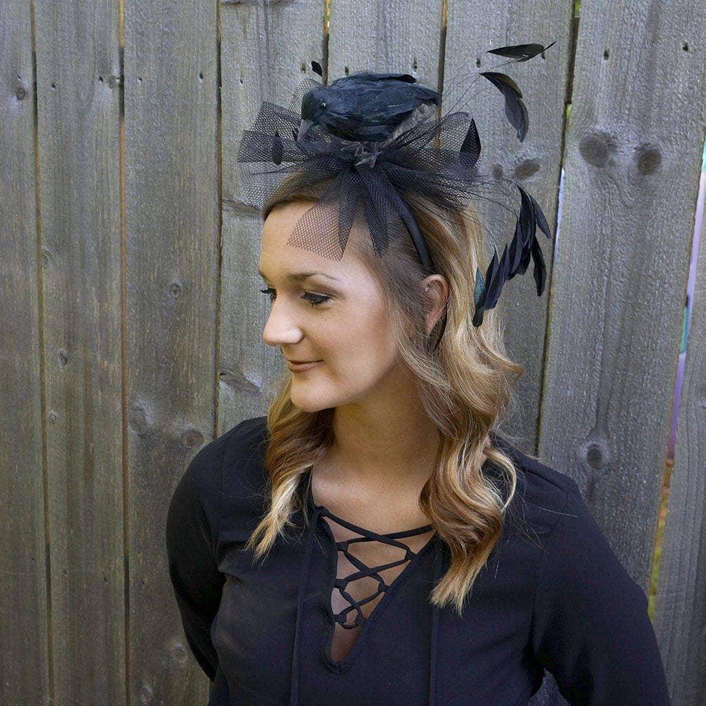 Feather Crow Headband