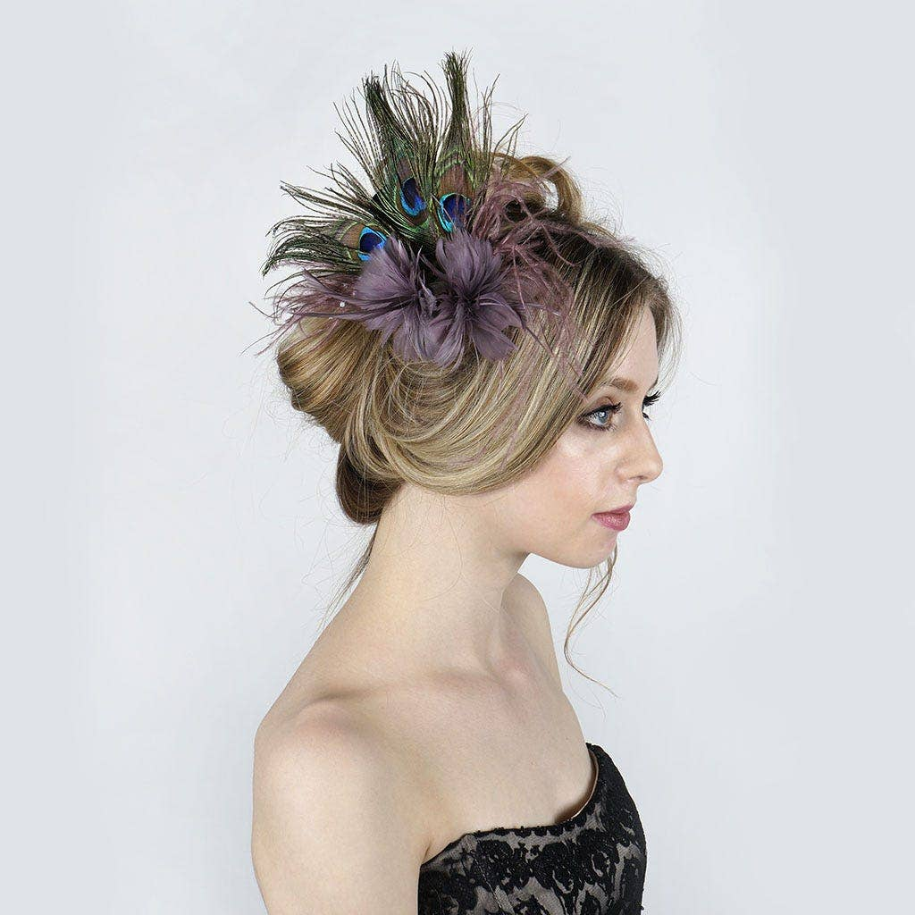 Peacock Feather Hairpiece