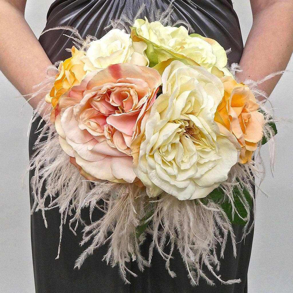 Ostrich Feather Bridal Bouquet